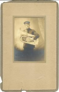 Portrait of Frank Becker, Schuster Studio, Hermann, Mo.